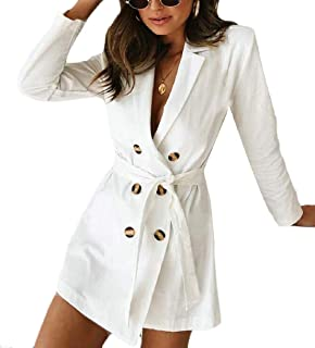 Womens Casual Double-Breasted Sexy Autumn Slim Trench Coat