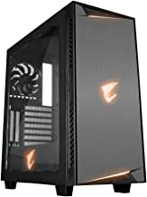 Gigabyte AC300W ATX Mid-Tower PC Case with RGB Fusion, USB-C and HDMI Front Inputs and Transparent Side Window