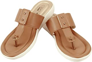 Cleo By Khadim's Synthetic PVC Sole Casual Brown Solid Sandal For Women