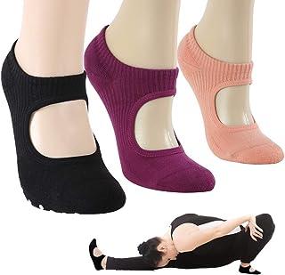 Yoga Socks, Gmall Women's Yoga Ballet Pilates Barre Dance Non Slip Skid Grip Pilates Cotton Low Cut Socks