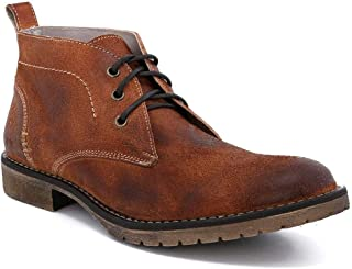 Men's Rayburn Leather Chukka Boot (10, Cognac Rustic Suede)
