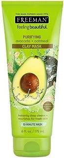 Freeman Feeling Beautiful Facial Clay Masque Avocado & Oatmeal 6 oz ( Pack of 3)