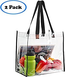 Magicbags 2-Pack Stadium Approved Clear Tote Bag, Stadium Security Travel & Gym Clear Bag, Perfect for Work, School, Sports Games and Concerts,12