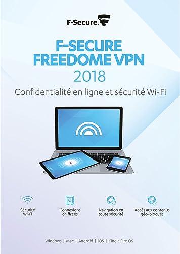 F-Secure Freedome VPN 2018 - 1 an / 5 appareils - toutes les plateformes [Code Jeu ]