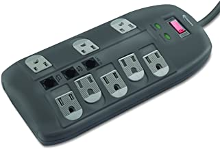 Innovera IVR71656 - SURGE PROTECTOR, 8 OUTLETS, 6FT CORD, TEL/DSL, 2160 JOULES
