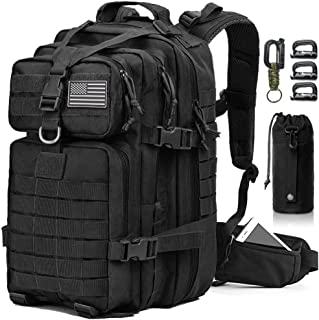 EMDMAK Tactical Backpack, 42L Large Military Pack Army 3 Day Assault Pack Molle Bag Rucksack