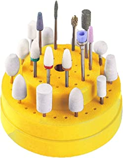 Xuanhemen 60 Holes Nail Drill Bits Holder Stand Display Nail Drill Bit Box Organizer Container Manicure Tool