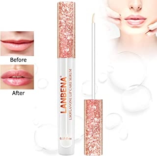 Dưỡng môi căng – Lip Plumper, Lip Enhancer, Lip Serum, Lip Plumping Lip Gloss, Lip Plumper for Increase Lip Elasticity, Reduce Fine Lines, Eliminate Dryness and Wrinkles Lipstick Treatment