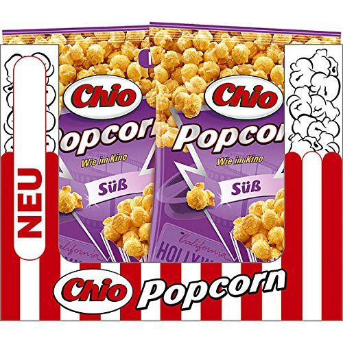12 Tüten Chio Popcorn süß a 120g Premium Qualität süße Popcorn fertig zubereitet