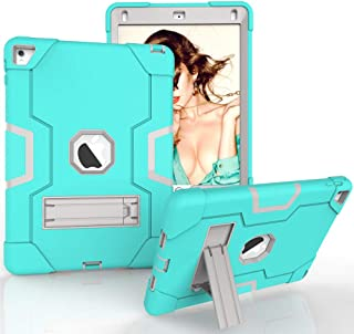 Shockproof Silicone & PC Heavy Duty Bumper Case Cover [Screen Protector Bonus] for iPad Air 2 for iPad Pro 9.7 ( A1566 A15...