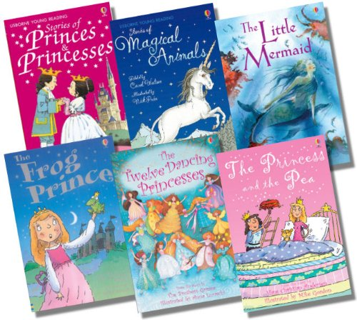 Usborne Young Reading Series 1 with CD Girl's Collection - 6 Books RRP £35.94 (Stories of Princes & Princesses + CD; The Twelve Dancing Princesses + CD; The Frog Prince + CD; The Little Mermaid + CD; Stories of Magical Animals + CD; The Princess and the Pea + CD)