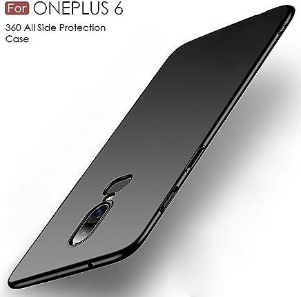 Tarkan Royal Ultra Slim Flexible Soft Back Case Cover for OnePlus 6 [Matte Black] 360 Degree Coverage