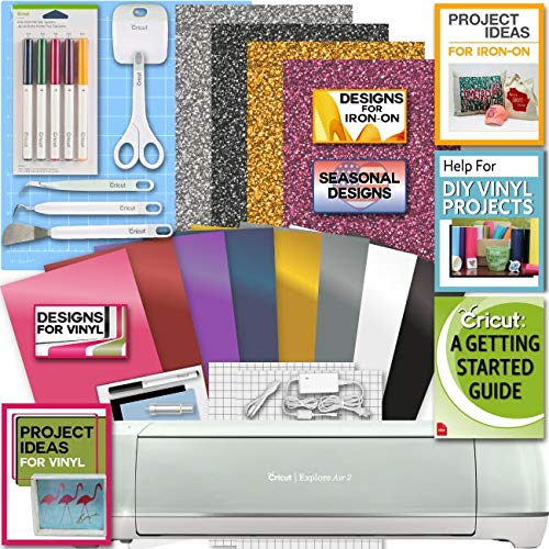 Cricut Explore Air 2 Machine Bundle Iron On Vinyl Pack Tools...