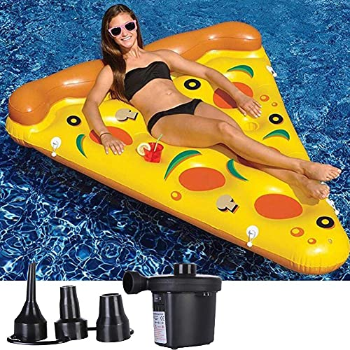 Patchwork Juguete Inflable Gigante de la Piscina de la boya Inflable de la Pizza para los niños o los Adultos con la Bomba de Aire