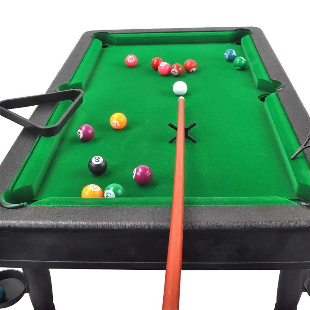 Dfghbn Juego de Billar Mini Mesa de Billar de Mesa de plástico en Miniatura Pool Juego Set con Mini Bolas de Piscina Cue Sticks Mesa de Billar Mesa Juguete for Adultos niños