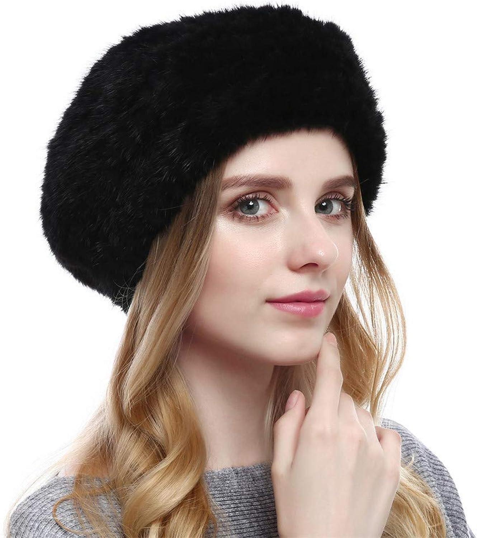 Ladies Hat Woven Beret Autumn and Winter Fashion Warm Luxury Hat