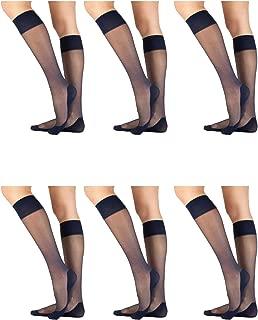 3,6,12 Paia Da Donna Ragazze lungo al ginocchio Calzini Di Cotone Tinta Unita Donna Taglia 4-7