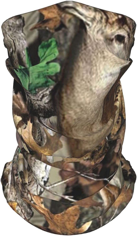 Camouflage Tree Deer1 Neck Gaiter Multipurpose Headwear Ice Silk Mask Scarf Summer Cool Breathable Outdoor Sport 4 Pcs