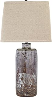 Ashley Furniture Signature Design - Shanilly Contemporary Table Lamp - Mercury Glass - Abstract - Multicolord