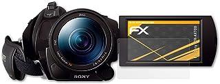 atFoliX Panzerfolie kompatibel mit Sony FDR AX700 Schutzfolie, entspiegelnde und stoßdämpfende FX Folie (3X)
