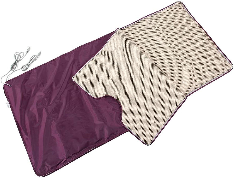 Sauna Heizdecke, 220V Far Infrarot Sauna Decke mit Sicherheitsschutzschalter, Krperform Abnehmen, für Schnheitssalon, Badekurort und Heimgebrauch, 70.9 x 31.5 Zoll(Weinrot)