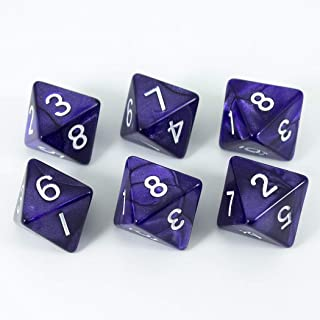 Paladin Roleplaying Purple D8 Dice - Pearl Effect - Set of Six