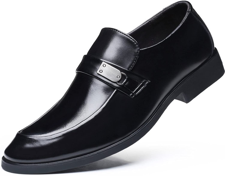 LQV Mans Business skor Bright Bright Bright Dress svart Leather Pointed skor Comfortable Andable No -Slip skor  många överraskningar