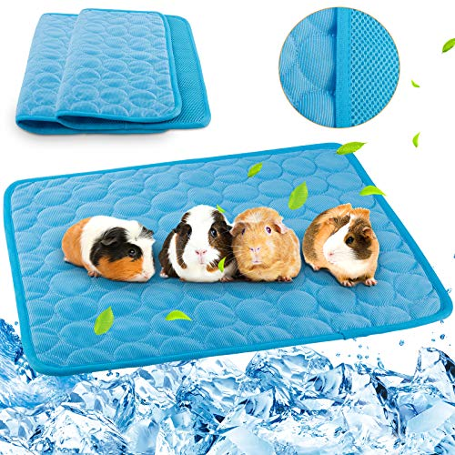 Geegoods Guinea Pig Cage Liners Summer,Cool Mat for Guinea Pigs,Cooling Pad for Rabbit,Washable & Fast Absorbent Cage Liner for Small Animal Summer Gift 2 Pack