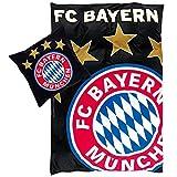 FC  Bayern München Bettwäsche Glow in the Dark Neu I Größe 135x200 80x80