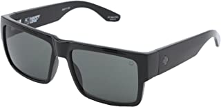 Spy Optic Cyrus Sunglasses Gloss Black with Happy Grey Green Lens Sticker