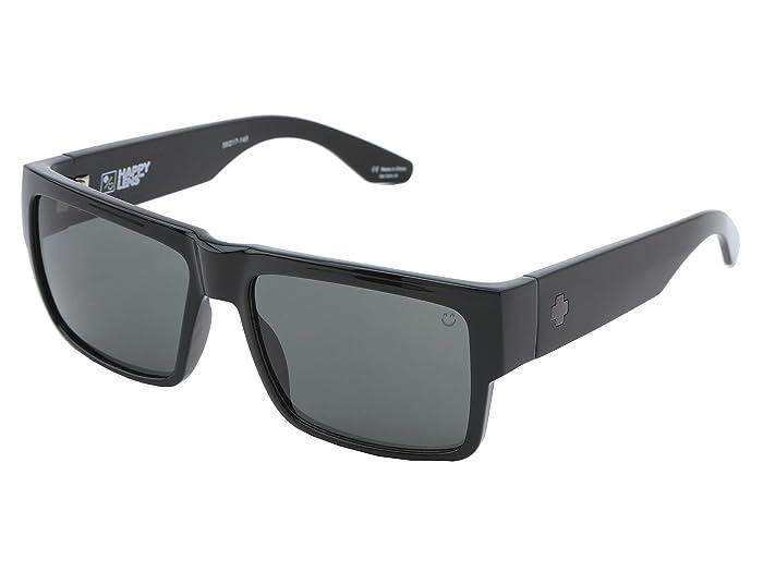 Spy Optic Cyrus (Cyrus Black HD Plus Gray Green) Sport Sunglasses