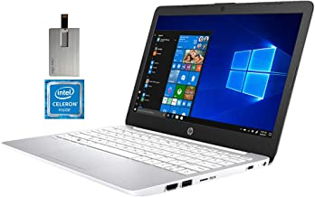 "2020 HP Stream 11.6"" HD Laptop Computer, Intel Celeron N4000 Processor, 4GB RAM, 64GB eMMC , 1 Year Office 365, Webcam, In..."