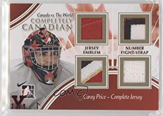 Carey Price #1/1 (Hockey Card) 2011-12 In the Game Canada VS the World - Completely Canadian Complete Jersey - Silver ITG Vault Ruby #CCCJ-14