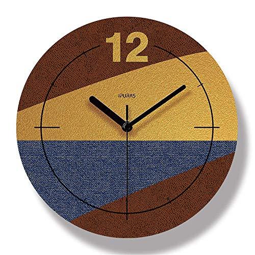 JSMY Horloge Murale De Peinture De Couleur Muette Horloge Murale Alimentée Par Batterie Convient àL'horloge Murale De Bureau De Cuisine De Chambre D'école(Blue,30cm)