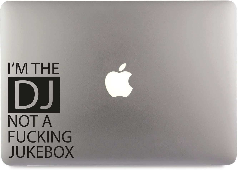 I M The DJ NOT A Fucking Jukebox Aufkleber Skin Decal Sticker geeignet f/ür Apple MacBook und alle Anderen Laptop und Notebooks 15