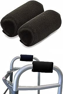 Universal Walker Padded Hand Grip Covers, Premium Medical Soft Cushion Memory Foam Core Padding, Moisture Wicking, Comfort, Washable, Black