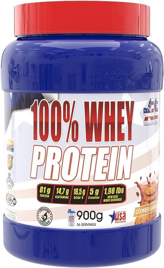 Whey protein, proteína en polvo, American Suplement - 900g (COOKIES)