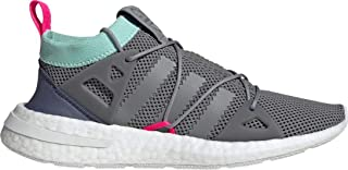 adidas Originals Womens Arkyn Boost Fashion Cross Training Shoes, Grey Three/Clear Mint/Shock Pink, 10.5 M US
