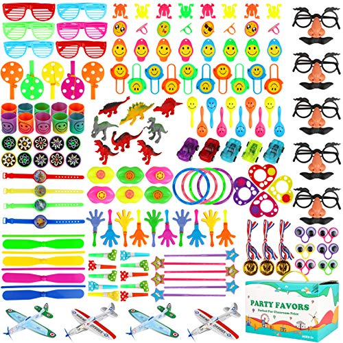 Aitbay Party Favors for Kids - 221PCS Assortment Toys Carnival Prizes and Classroom Rewards, Great Treasure Box, Goodie Bag for Boys and Girls