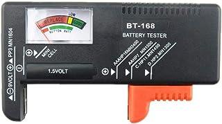 D-FantiX Digital Battery Tester Household Battery Checker Tester for AA AAA C D 9V 1.5V Button Cell Batteries(Model: BT-168)