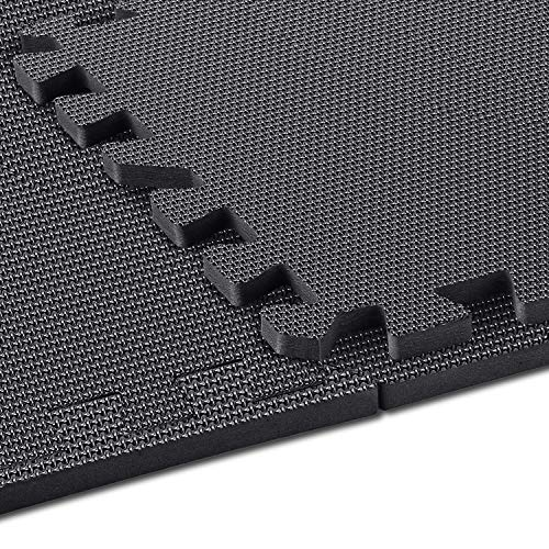 arteesol Schutzmatten Set - 18 Puzzlematten je 30x30x1cm,Premium Bodenschutzmatten Unterlegmatten Fitnessmatten für Sport Fitnessraum Fitnessgeräte Fitness Pool (Night)