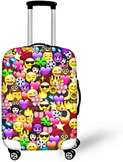 INSTANTARTS Funny Emoji Kid Travel Suitcase Protective Dustproof Cover Fit 18-30 Inch Luggage L