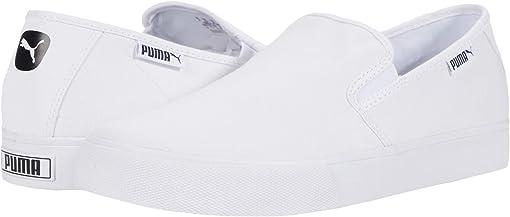 Puma White/Puma Black/Gray Violet