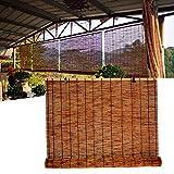 L-DREAM Persiana Enrollable De Bambú para Exterior Pérgola Patio, Estor Bambu - Cortina De Paja - Ideal para Galería Decoración, Ventanas Y Puertas, Estores Enrollables Opacas