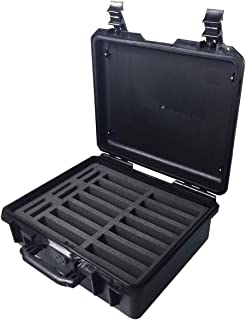 GLOTRENDS IP 67 Waterproof Level Hard Drive Protective Box Briefcase for 2.5/3.5 inch HDD/SSD, Strength Engineering ABS Plastic Hard Shell, Black (W12)