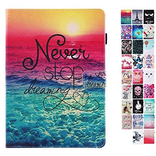 Coeyes Tablet-PC Hülle kompatibel für Samsung Galaxy Tab S2 T810 815 813 819 Tasche Leder Flip Case Etui Schutzhülle Cover mit Kartenfach - Never Stop Dreaming