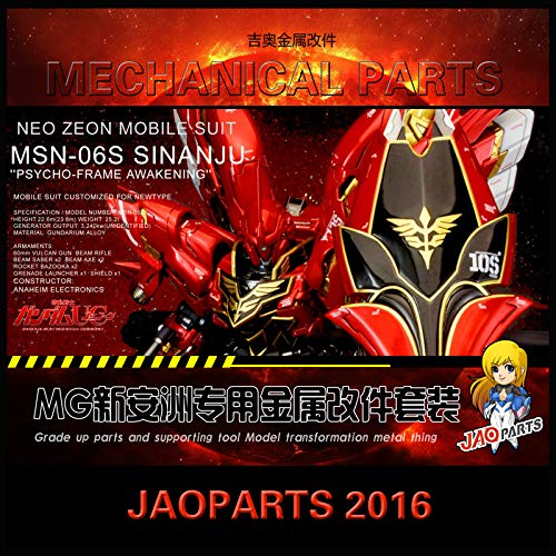 Jaoparts Gundam 1/100 MG MSN-06S SINANJU Matel Detail up Parts