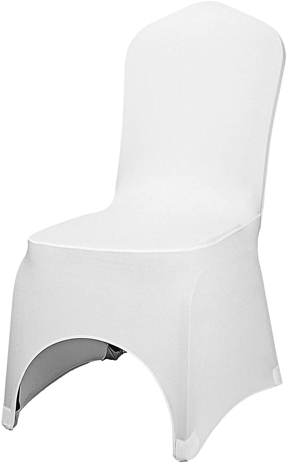 Now free shipping VEVOR 50 Pcs White Chair Spandex 5 ☆ very popular Polyester St Covers Cover