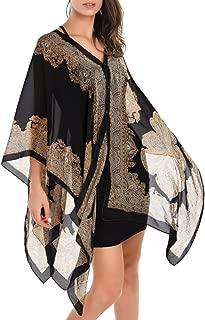 Best silk scarf ponchos Reviews
