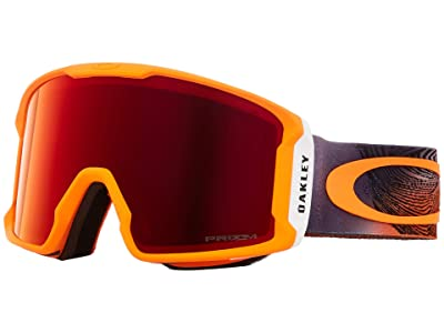 Oakley Line Miner (Mystic Flow Neon Orange w/ Prizm Torch Iridium) Goggles